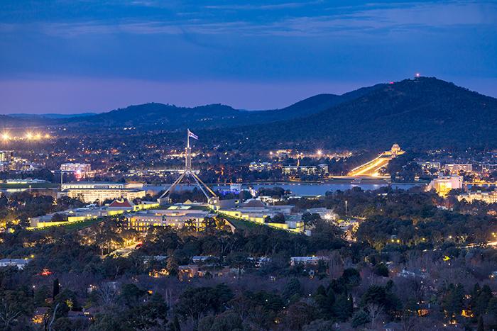 Canberra after dusk