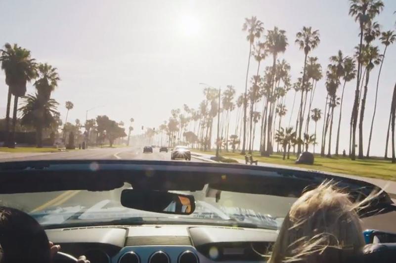 Car in LA