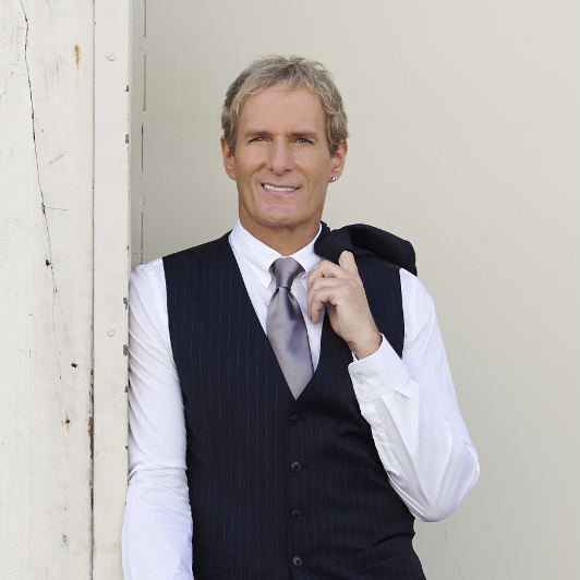 A portrait of singer-songwriter Michael Bolton.