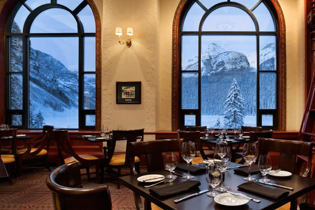 Restaurant with amazing views of Lake Louise