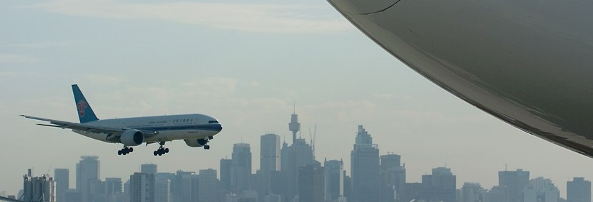 China Southern Airlines lands at Sydney Airport
