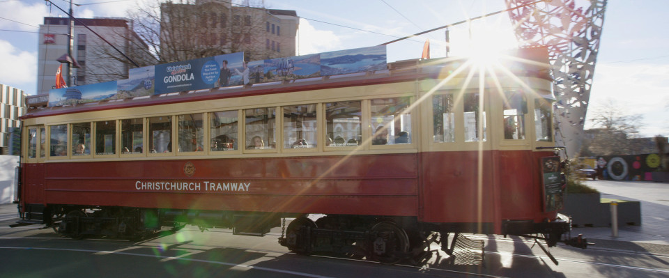 Historic christchurch trams are a great way to get around the city