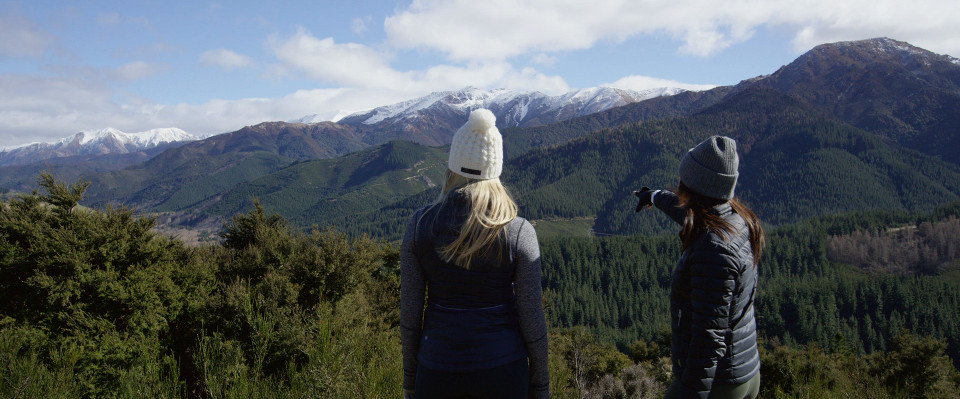 conical hill in hanmer springs offers view of the southern alps