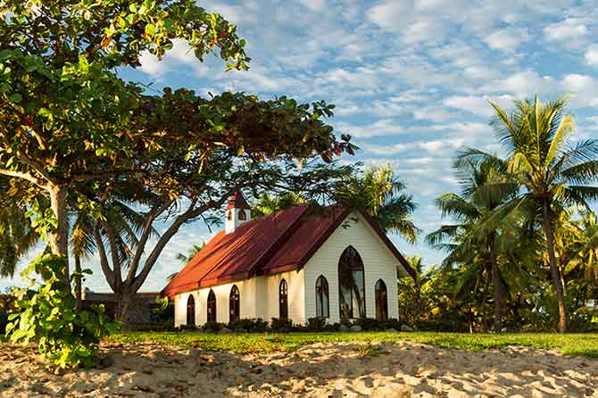 Quaint church in Fiji