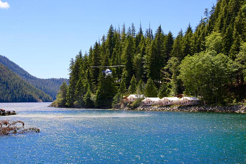 View of Clayoquot Wilderness Resort, BC