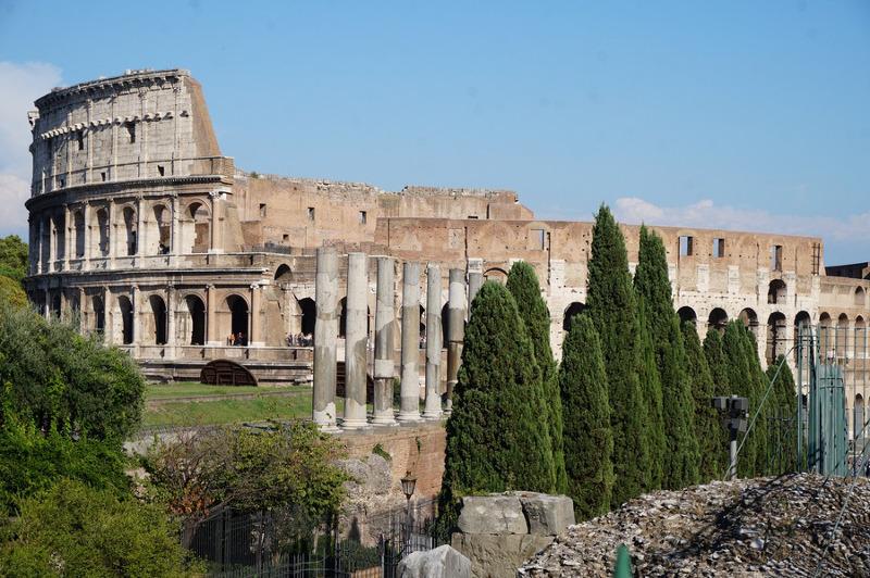 Exterior short of the Colosseum