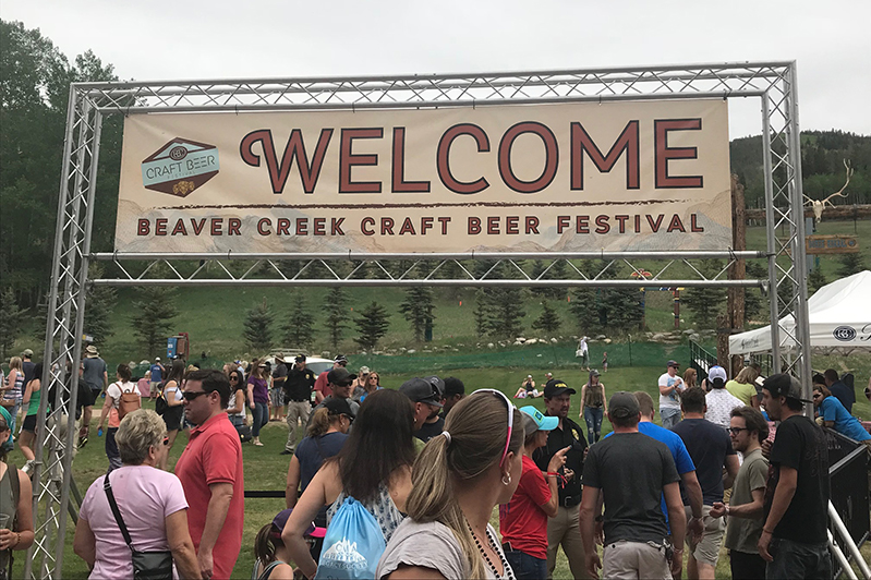 Entrance to Beaver Creek Craft Beer Festival, Colorado