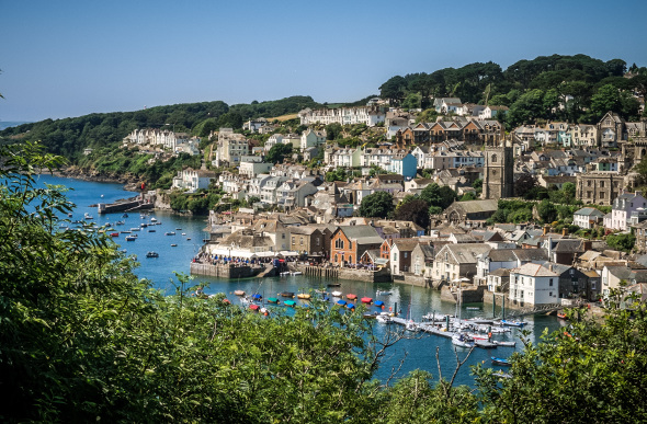 The village of Fowey in Cornwall, England.