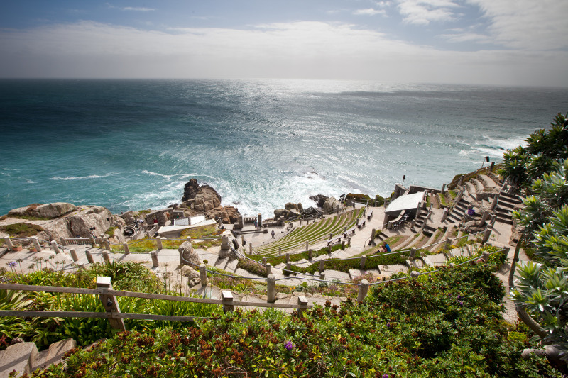 An overhead view of the Minack Theatre