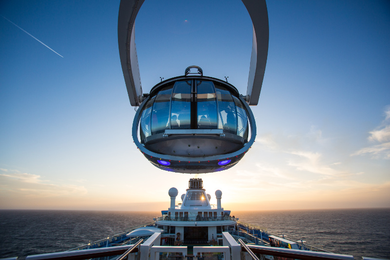 The North Star pod on board Royal Caribbean's Ovation of the Seas cruise ship.