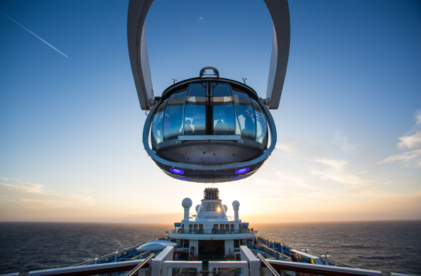 The North Star aboard Ovation of the Seas cruise ship.