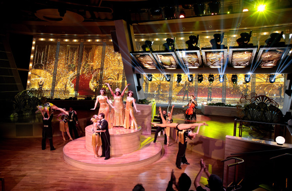 A stage show on board Royal Caribbean's Ovation of the Seas.