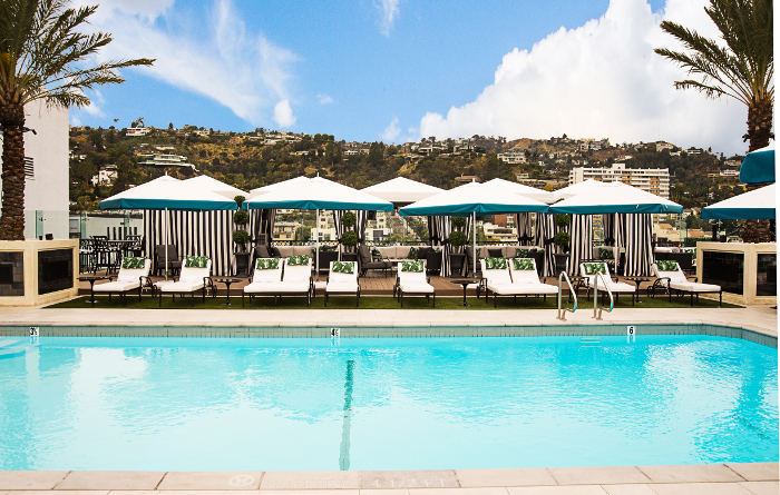 the london los angeles rooftop pool