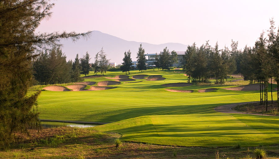 Montgomerie Links golf course in Danang.