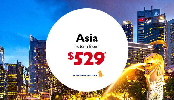 Singapore Airlines Flight Deals | Flight Centre