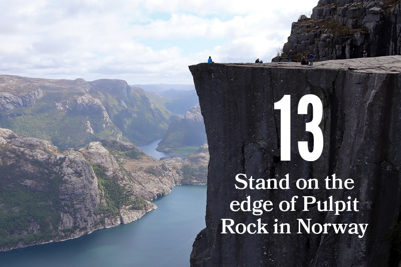 cliff of pulpit rock in norway