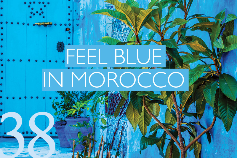 Blue city in Morocco