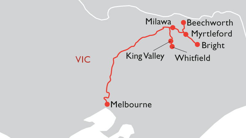Northern victoria road trip map