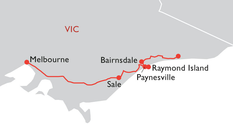east gippsland road trip map
