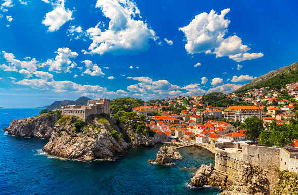 The coast of Dubrovnik