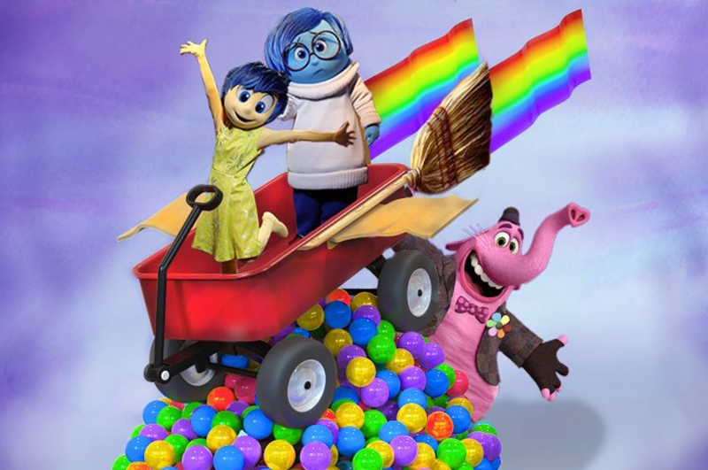Some of the animated characters from Disney Pixar's Inside Out film.
