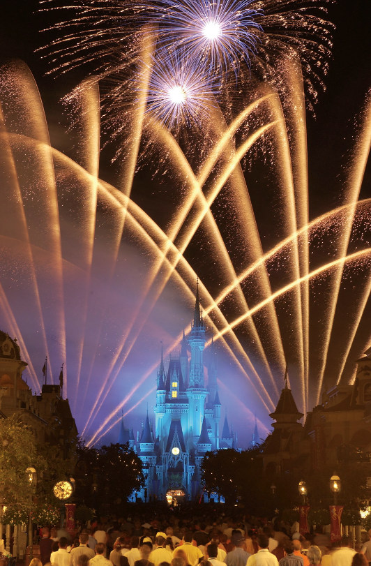 Fireworks over Walt Disney World's castle.