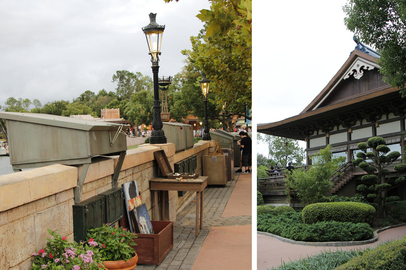 Japanese architecture and gardens found in Epcot