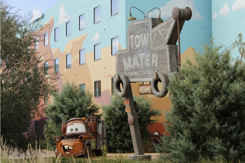 Mater outside the Disney Art of Animation Resort