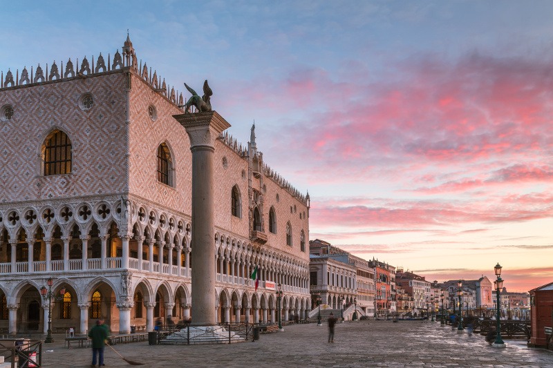 The front of Doge's Palace