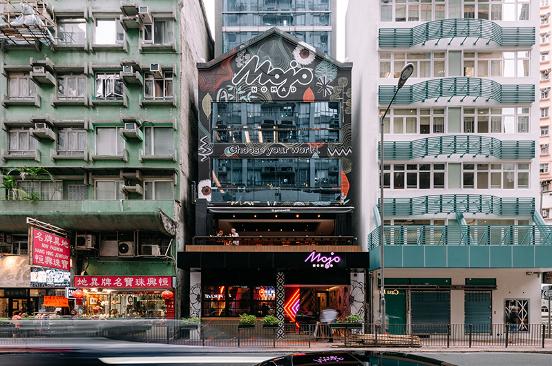 exterior of Mojo Nomad Central on Hong Kong Island