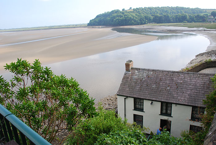 View of Dylan Thomas' Boathouse.