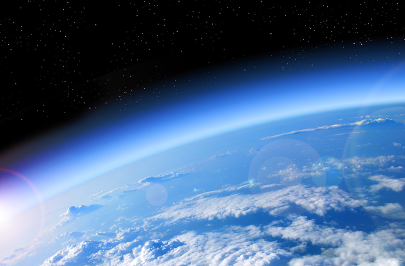 A photo of the earth