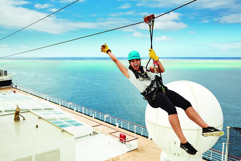 Celebrity Edge has a zipline! (Image: Celebrity Edge)