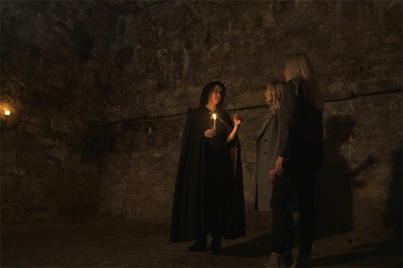 A ghost tour in Edinburgh.
