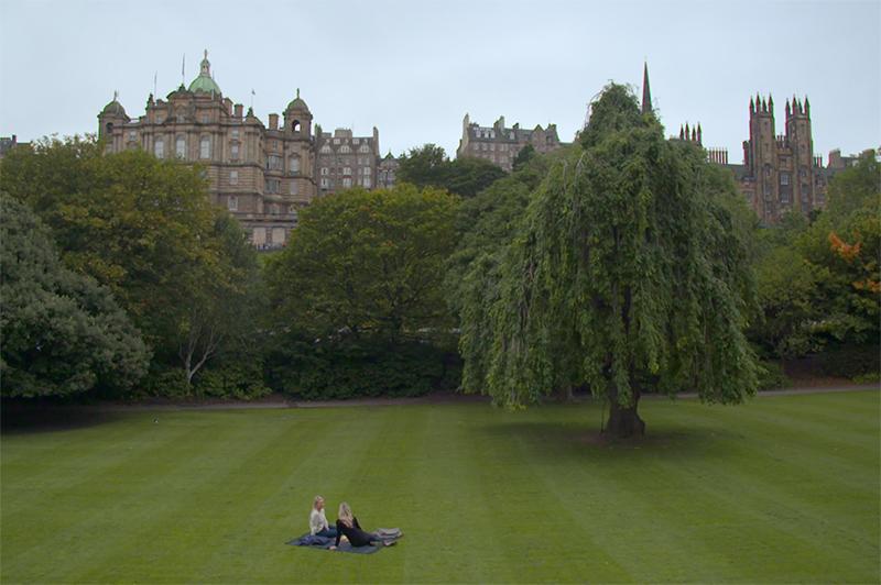 A picnic in an Edinburgh park
