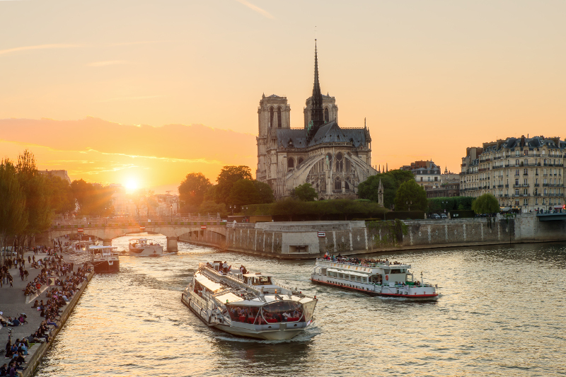 A river cruise in Paris.