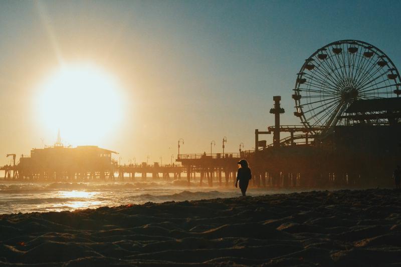 The famous Santa Monica Pier.