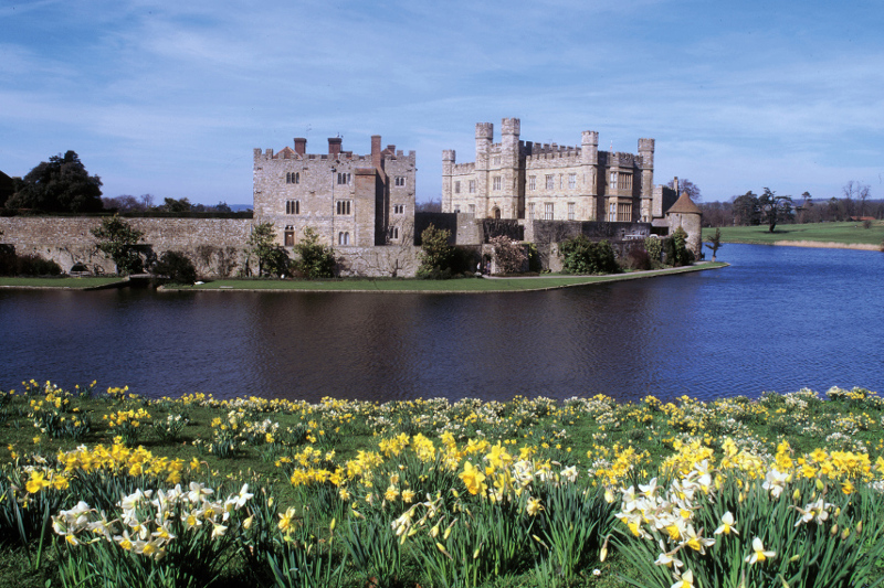 Leeds Castle in England.