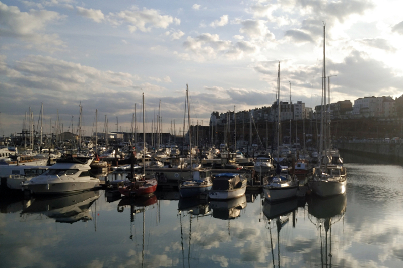 Beautiful Ramsgate Harbour in England.
