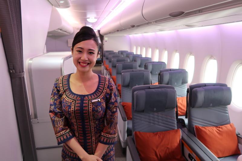 Premium economy singapore airlines a380