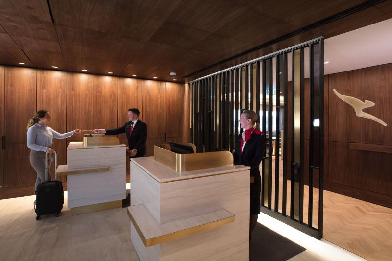 Qantas Lounge in London