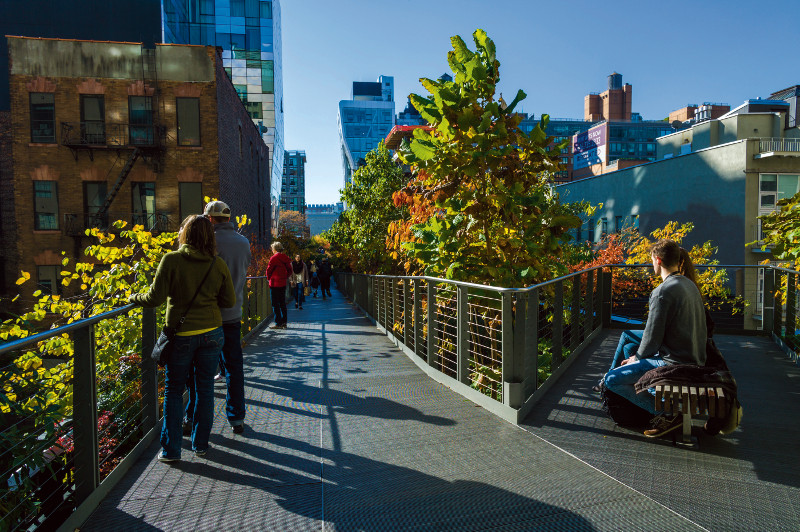 High Line in New York.