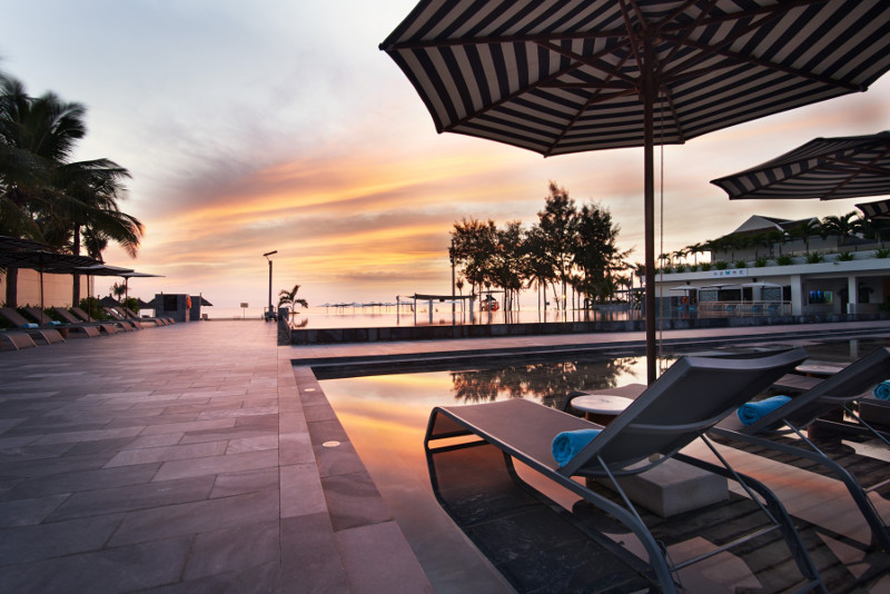 The pool at the Pullman in Danang.