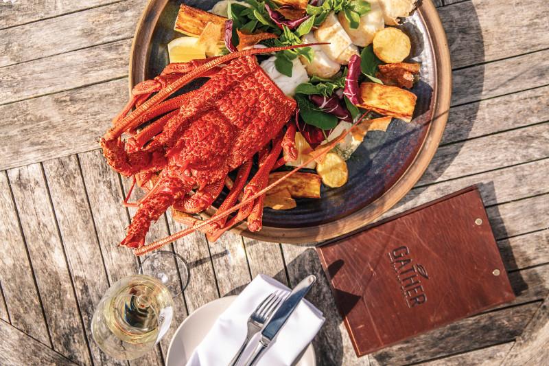 Fresh South Australian produce on a plate.