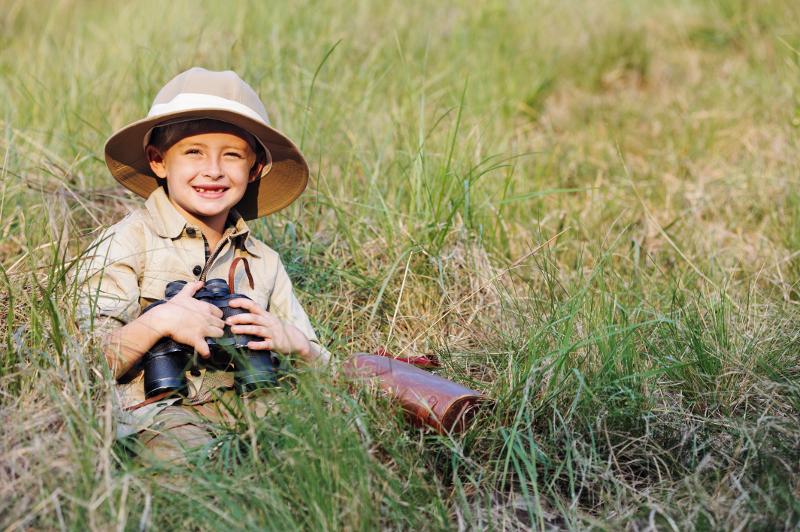 Child on safari.