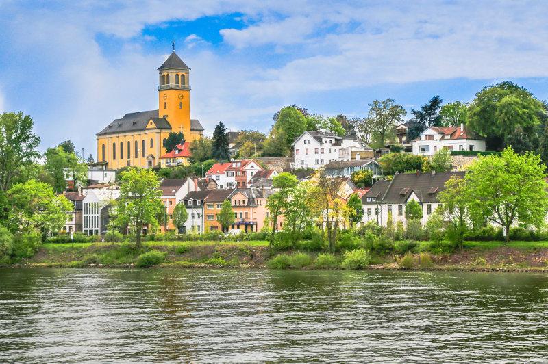 Village on Rhine River, Germany