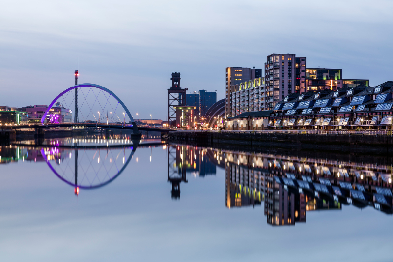 Glasgow by night.