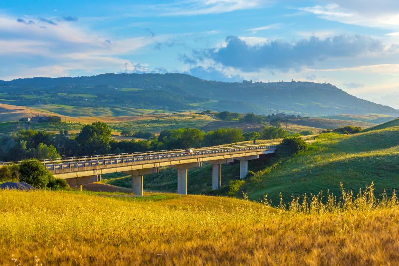 Road winding through Italy.