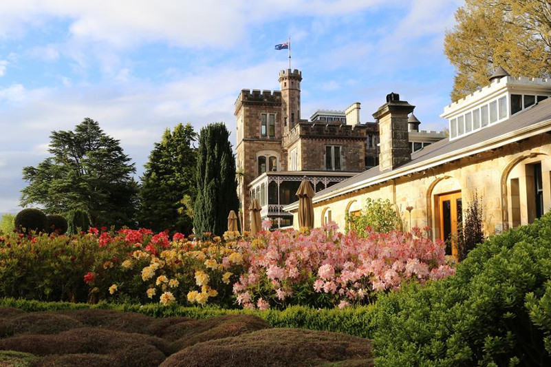 Beautiful gardens by Larnach Castle