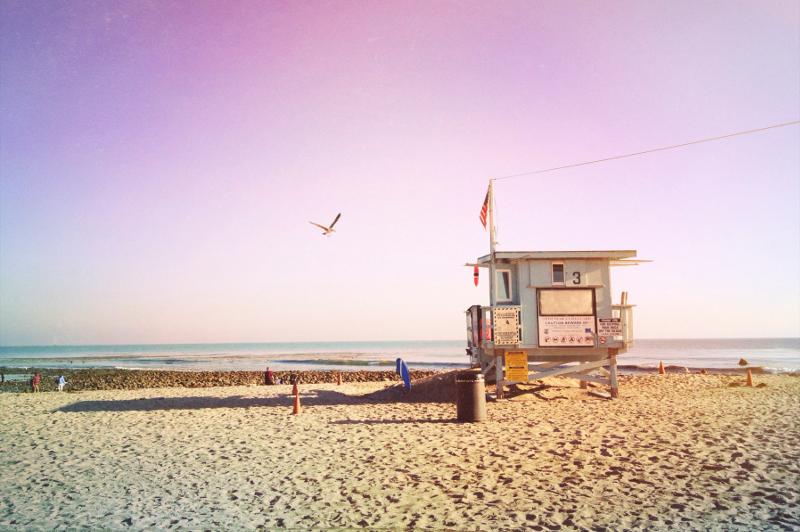 Malibu beach in California.